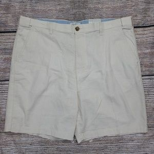 Croft Barrow Linen Blend Flat Front Shorts 40 New